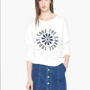 SALE💰2for$15💰Mango printed sweatshirt